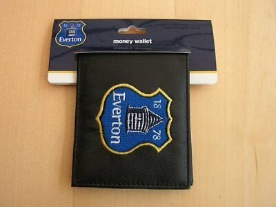 Black Leather FC Football Club Wallets Embroidered Club Crest 4