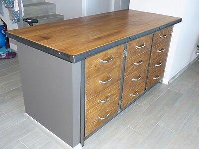 1 sur 3 meuble industriel buffet 3 portes mtal bois sur mesure