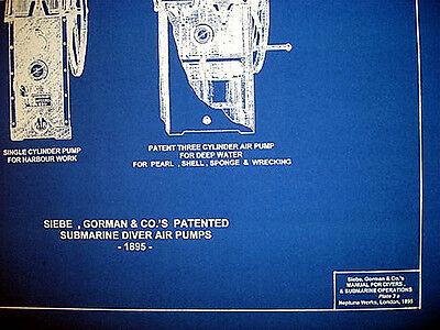 Vintage diving helmet air pumps siebe gorman blueprint plan 14x20 2 of 3 vintage diving helmet air pumps siebe gorman blueprint plan 14x20 malvernweather Gallery