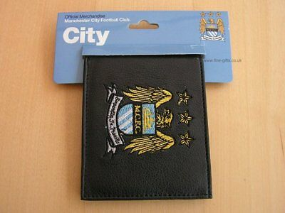 Black Leather FC Football Club Wallets Embroidered Club Crest 5