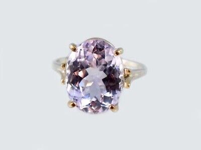 19thC Antique 10ct Afghani Kunzite Gold Ring Ancient Good Luck Symbol of Purity 4