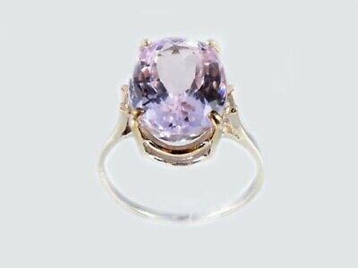 19thC Antique 10ct Afghani Kunzite Gold Ring Ancient Good Luck Symbol of Purity 2