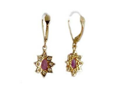 Gold Pink Tourmaline Earrings 1½ct Antique 19thC Gem of China Last Empress 14kt 9