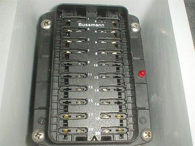 Pulse Tech 12V & 24V Bussmann Distribution Panel Boat Marine Circuit Breaker 4