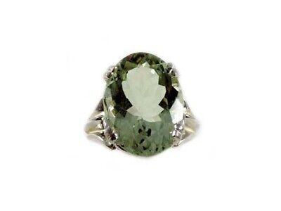 Green Amethyst Ring Antique 19thC Poland Ancient Celt Rome Greek Warrior Amulet 9