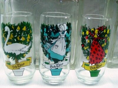 3 of 7 assorted days of christmas drinking glasses pepsi logo 12 oz sold individual - Christmas Drinking Glasses