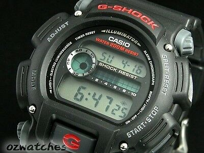 Casio G-Shock Digital Mens Watch Dw9052-1V Black/red 2Y Warranty Dw-9052-1Vdr 10