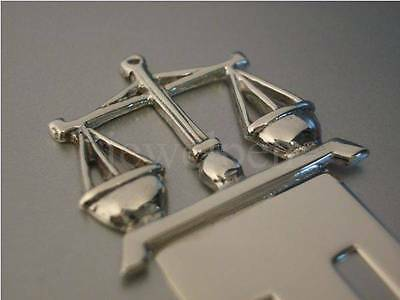 SOLID 925 STERLING SILVER JUSTITIA WAAGE LESEZEICHEN BOOKMARK SUUM CUIQUE