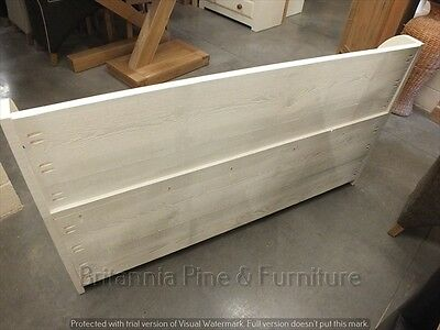 5' Painted Shabby Low Monks Bench Seat Settle Pew Storage Distressed Sawn 6