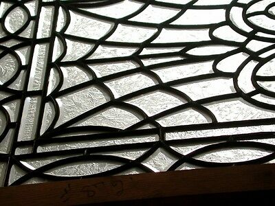 Leaded and Beveled Glass Panel, Early 20th c. #2193 2