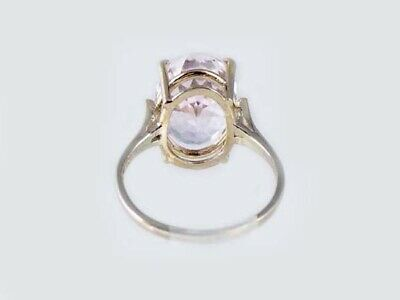 19thC Antique 10ct Afghani Kunzite Gold Ring Ancient Good Luck Symbol of Purity 10