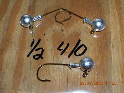 50 3//32 Round Head Jigs Bronze Mustad Hooks  #4  #2  #1 U Choose