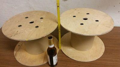 2x kabeltrommel holz rolle leer spule 40cm x27 cm basteln kinder eur 9 99 picclick de. Black Bedroom Furniture Sets. Home Design Ideas