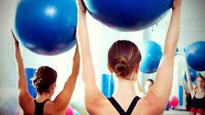 Palla fitness gonfiabile con pompa 65 cm pilater yoga ginnastica preparto 3