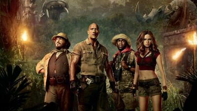 COLORFUL AND LOVELY MOVIES POSTER JUMANJI-  Canvas home wall choose your size 2
