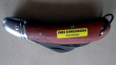 Okulier Anka Messer Hippe- Gärtnermesser  zweiteilig aus Solingen