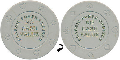 100 8-Suit Gray Ncv Classic Poker Cruises Casino Quality Chips - Free Shipping 2