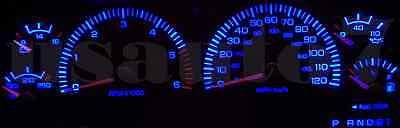 Dash Cluster Gauges BLUE SMD LEDs LIGHTS KIT Fits 94-97 Dodge Ram 1500 2500 3500