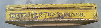 Old Advertising Tin Rich's Crystallized Canton Ginger EC Rich NY 4