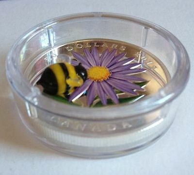 Canada $20 Fine Silver Coin - Aster with Venetian Glass Bumble Bee (2012) 6