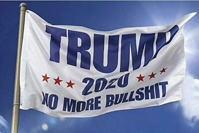 3x5 Ft Trump 2020 No More BS President Donald MAGA Flag US White 5