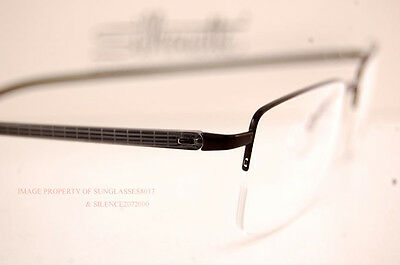 39cadffc403 ... New Silhouette Eyeglass Frames Illusion Nylor 5428 6059 Black Men Women  Size 53 4