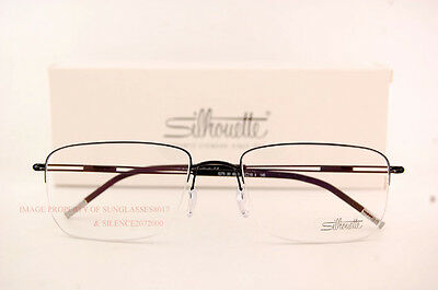 111dc82aa6e ... New Silhouette Eyeglass Frames TNG Nylor 5279 6055 Black SZ 54 Men 2