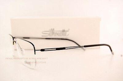 87b386a242f ... New Silhouette Eyeglass Frames TNG Nylor 5279 6055 Black SZ 54 Men 4