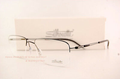 6da18336817 ... New Silhouette Eyeglass Frames TNG Nylor 5279 6055 Black SZ 54 Men 3