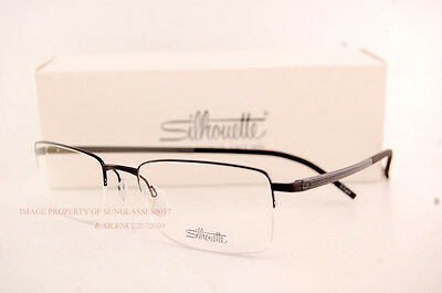 1095e90df122 ... New Silhouette Eyeglass Frames Illusion Nylor 5428 6059 Black Men Women  Size 53 2