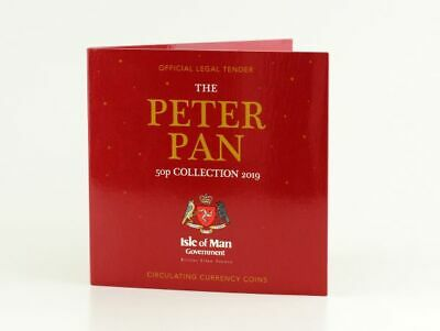 2019 Isle of Man Official Government Peter Pan 50p coin set 2