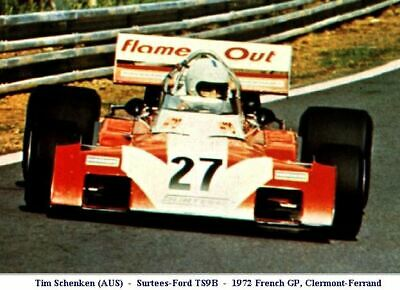 SET 2 Decals 1//43 Surtees TS9B F.1 Works Team Schenken 1972 FR//GB Red Car NEW