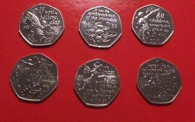 UNC 50p Peter Pan Set From Sealed Bags 9