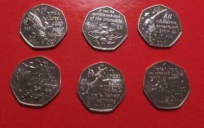 UNC Peter Pan 50p Set From IOM Bags 9