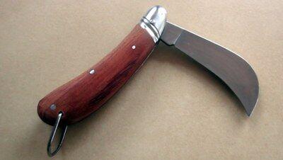 Okulier Anka Messer Hippe- Gärtnermesser mit Edelholzschalen  aus Solingen