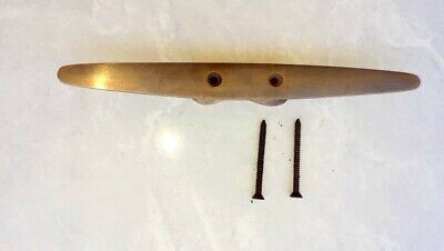 """CLEAT tie down solid heavy 100% brass boats cars tieing rope hooks cleats 8"""" B 2"""