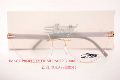 New Silhouette Eyeglass Frames INSPIRE 5506 DL 3635 Rose Gold/Opal Grey Size 53