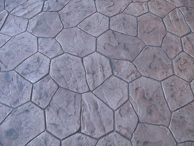 4 Random Stone  Decorative Concrete Cement Imprint Texture Stamp Mat set New
