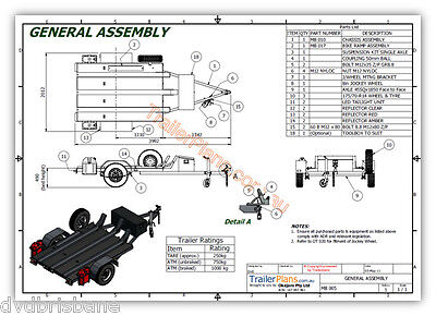 Trailer Plans - MOTORBIKE TRAILER PLANS - 3 Bike Design 7x5ft - PLANS ON CD-ROM 10
