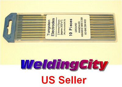 "10-pk TIG Welding Tungsten Electrode 2% Lanthanated Blue 3/32""x7"" US Seller Fast 9"