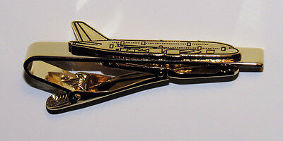 Tiebar Airbus A380 GOLD AIRPLANE Pilots Crew Maintenance metal tie clip clasp