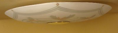 Vintage Lighting very low very wide circa 1950 Mid Century Modern ceiling light 3