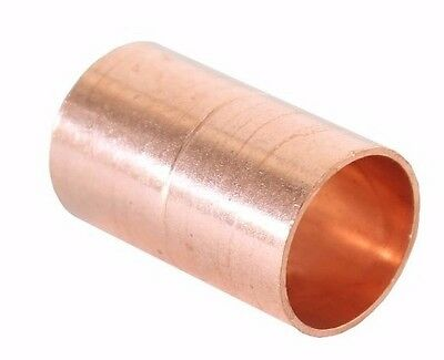 "1 1/2"" Coupling Rolled Stop C x C Sweat Ends - COPPER PIPE FITTING 3"