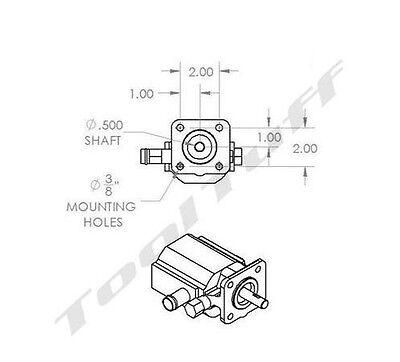 11 GPM Hydraulic Log Splitter Pump, 2 Stage Hi Lo Gear Pump, Logsplitter, NEW 4