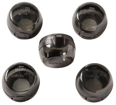 Safety 1st 5 Pack Black Stove Knob Hinged Covers HS147 Child Proof - 72325 2