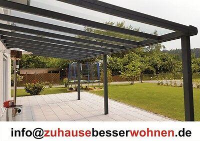 Terrassenuberdachung Terrassendach Aluminium Anthrazit Vsg Glas 400