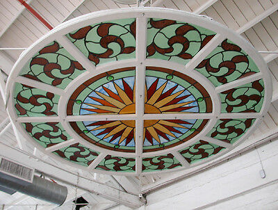 Stained Glass Window, Round  #4817B