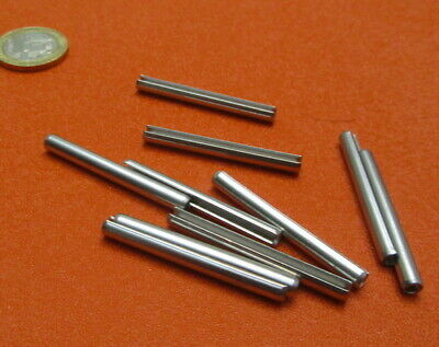 18-8 Stainless Steel Slotted Metric Spring Pin M4 Dia x 40 mm Length, 30 pcs 2