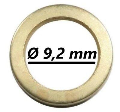 30 Fitschenringe Außen Ø13,2 mm Innen Ø9,2 mm Stahl vermessingt Türbänder Tür