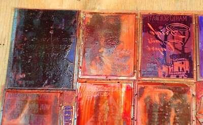 Konvolut Klischees Druckplatten Druckerei Drucker Bleisatz letterpress plates 2